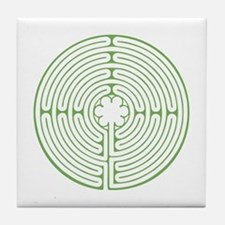 Green Chartres Labyrinth Tile Coaster