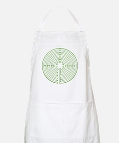 Green Chartres Labyrinth Apron