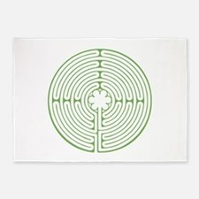 Green Chartres Labyrinth 5'x7'Area Rug