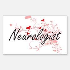 Neurologist Artistic Job Design with Heart Decal