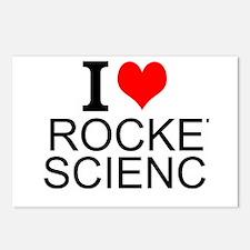 I Love Rocket Science Postcards (Package of 8)