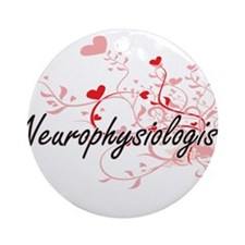 Neurophysiologist Artistic Job Desi Round Ornament