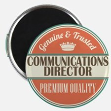 communications director vintage logo Magnet