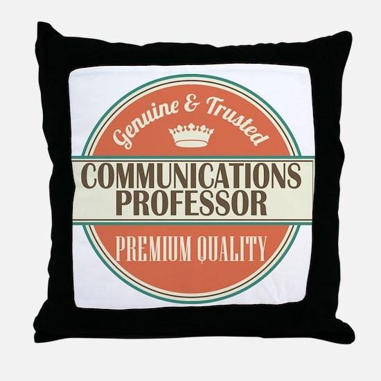 communications professor vintage logo Throw Pillow