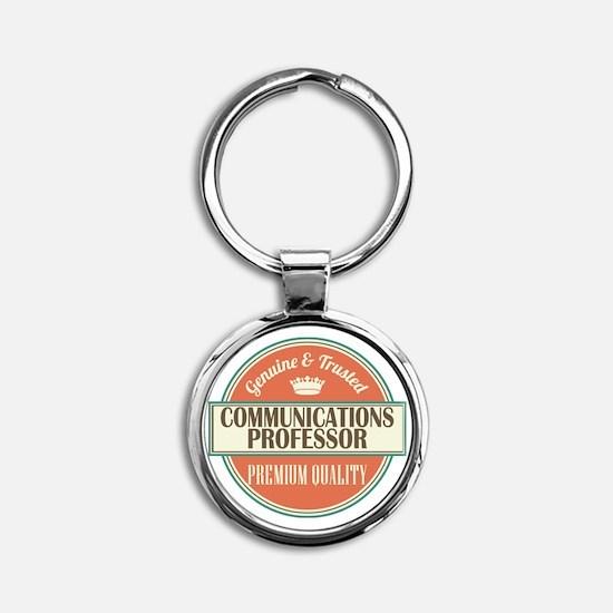 communications professor vintage lo Round Keychain