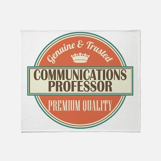 communications professor vintage log Throw Blanket