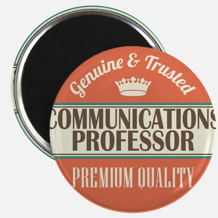 communications professor vintage logo Magnet