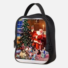 Santa Claus Decorates the CHirs Neoprene Lunch Bag