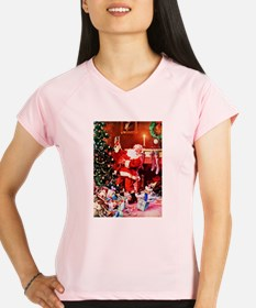 Santa Claus Decorates the Performance Dry T-Shirt