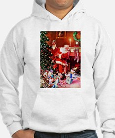 Santa Claus Decorates the Chirst Jumper Hoody