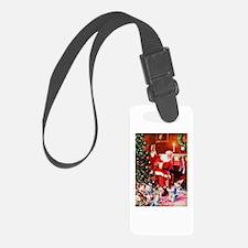 Santa Claus Decorates the Chirst Luggage Tag