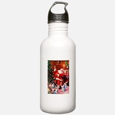 Santa Claus Decorates Water Bottle