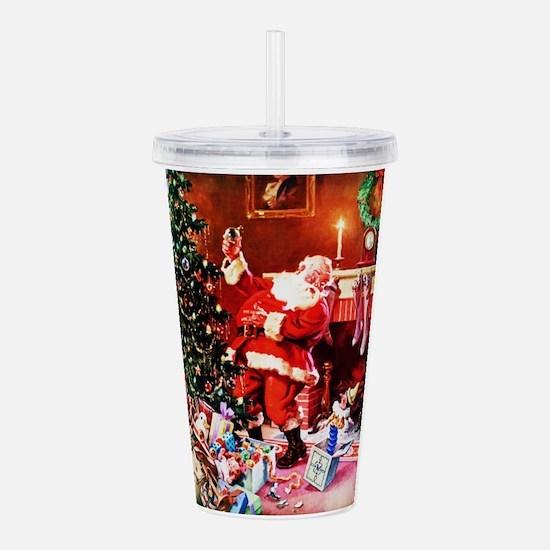Santa Claus Decorates Acrylic Double-wall Tumbler
