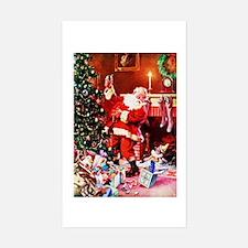 Santa Claus Decorates the Chir Decal