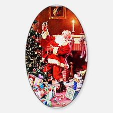 Santa Claus Decorates the Chi Decal