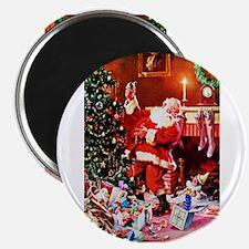 """Santa Claus Decorates the C 2.25"""" Magnet (10 pack)"""