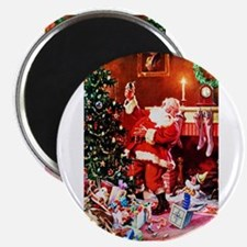 "Santa Claus Decorates the 2.25"" Magnet (100 pack)"