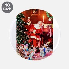 "Santa Claus Decorates the Ch 3.5"" Button (10 pack)"