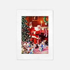 Santa Claus Decorates the Chirstmas 5'x7'Area Rug