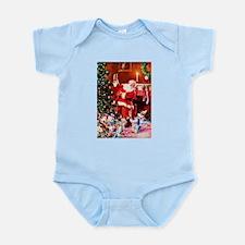 Santa Claus Decorates the Chirstma Infant Bodysuit