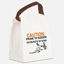 Cute Caution Canvas Lunch Bag