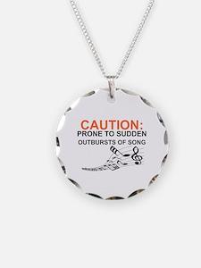 Cute Caution Necklace