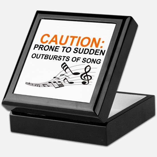 Cute Caution Keepsake Box