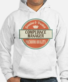 compliance manager vintage logo Hoodie