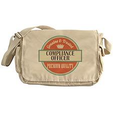 compliance officer vintage logo Messenger Bag