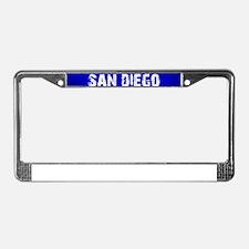 SAN DIEGO blue License Plate Frame
