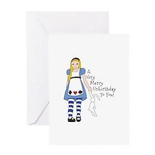 Very Merry Unbirthday Greeting Cards