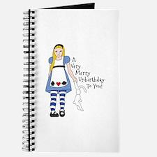 Very Merry Unbirthday Journal