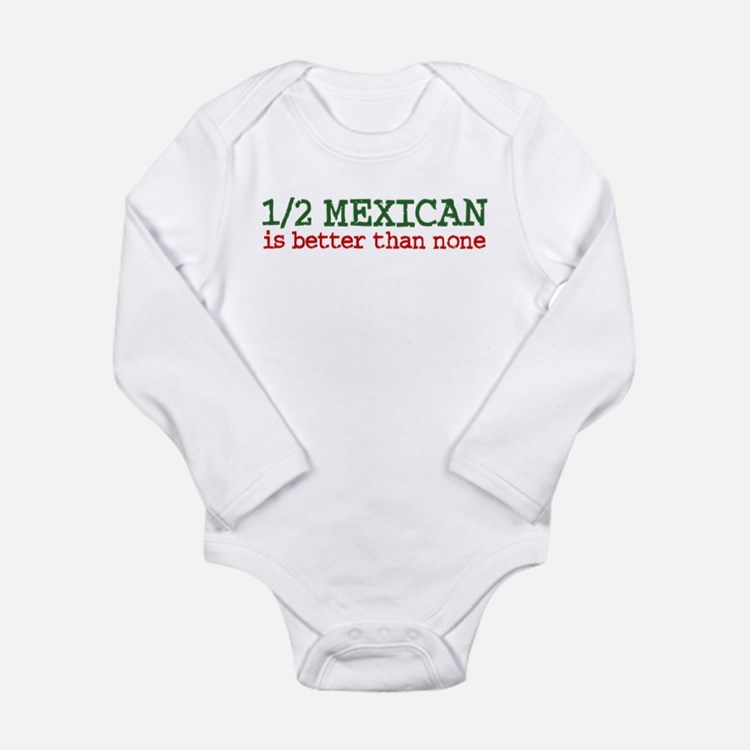 Cute Mexican baby Long Sleeve Infant Bodysuit
