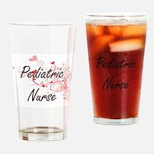 Pediatric Nurse Artistic Job Design Drinking Glass