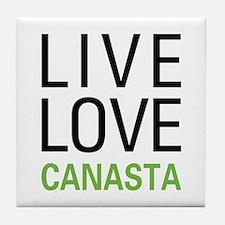 Live Love Canasta Tile Coaster