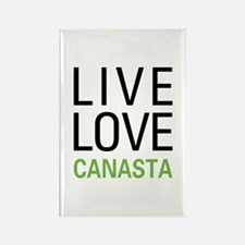 Live Love Canasta Rectangle Magnet