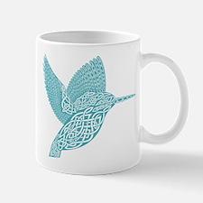 celtic knot kingfisher light blue Mugs