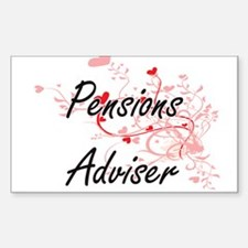 Pensions Adviser Artistic Job Design with Decal