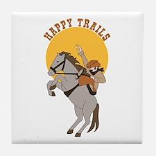 Happy Trails Tile Coaster