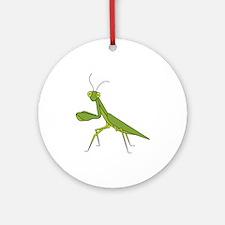 Praying Mantis Round Ornament