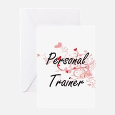 Personal Trainer Artistic Job Desig Greeting Cards