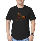 Bigfoot with guitar Fitted Dark T-Shirts