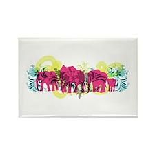 Pink Elephants Rectangle Magnet