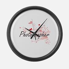 Photographer Artistic Job Design Large Wall Clock