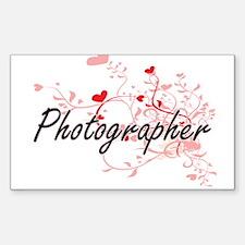 Photographer Artistic Job Design with Hear Decal