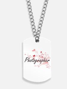 Photographer Artistic Job Design with Hea Dog Tags
