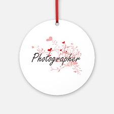 Photographer Artistic Job Design wi Round Ornament