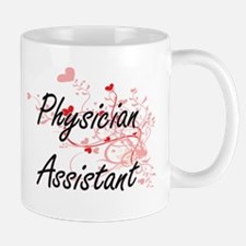 Physician Assistant Artistic Job Design with Mugs