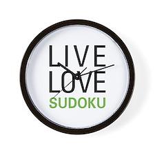 Live Love Sudoku Wall Clock