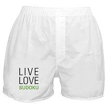 Live Love Sudoku Boxer Shorts